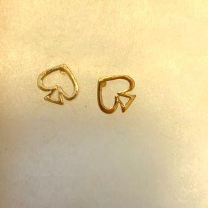 Gold spade Kate spade earrings